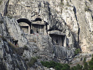 Tombs of the kings of Pontus - A view of the rock-tombs of the Pontic kings