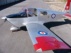 Leading edge - American Aviation AA-1 Yankee showing the wing's straight leading edge