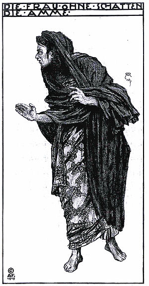 Die Frau ohne Schatten - Costume design by Alfred Roller for the premiere, for the part of the Nurse