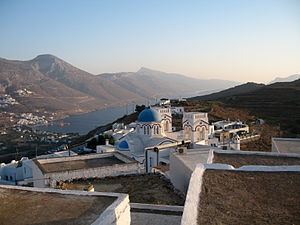 Amorgos - View of Tholaria village