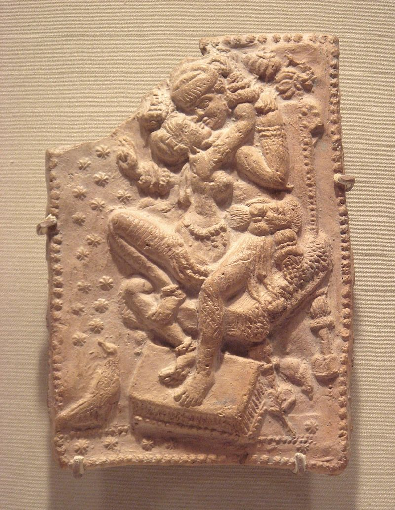 Amourous royal couple Sunga 1st century BCE West Bengal.jpg