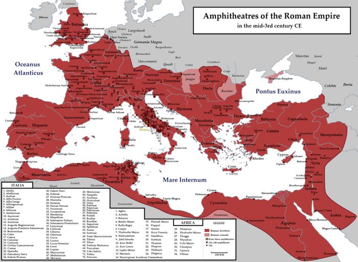 Amphitheatres of the Roman Empire Amphi-Rome.PNG