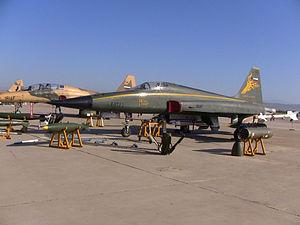HESA Azarakhsh - HESA Azarakhsh on display at Vahdati Air Base