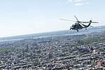 An MH-60S Seahawk assigned to HSC-9 flies over Staten Island during Fleet Week New York 2019.jpg