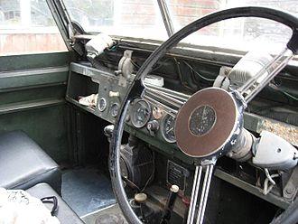 Land Rover - Series IIA dashboard
