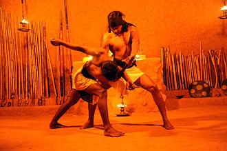Angampora - Angampora gripping technique at Korathota Angam Maduwa