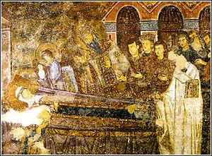 English: Death scene of Anna Dandolo painted o...