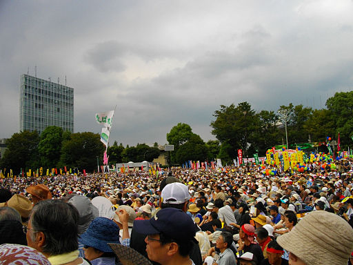 Anti-Nuclear Power Plant Rally on 19 September 2011 at Meiji Shrine Outer Garden 03