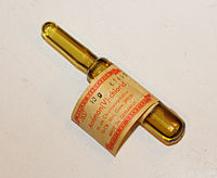 Antimony pentachloride in an ampoule.jpg
