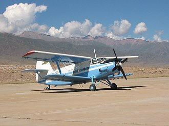 Transport in Kyrgyzstan - In the little airfield in Tamchy village on Issyk Kul Lake's north shore