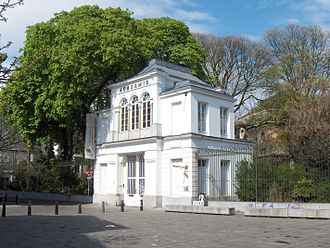 Royal Academy of Fine Arts (Antwerp) - The Neoclassical entrance gate (1841-1843) designed by Pierre Bourla
