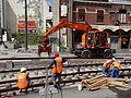 Anzin & Valenciennes - Travaux de raccordement des lignes A & B du tramway de Valenciennes à la Croix d'Anzin le 19 août 2013 (25).JPG