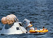 Apollo 7 crew during water egress training
