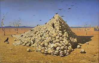 Pacifism - Vereshchagin's painting Apotheosis of War (1871) came to be admired as one of the earliest artistic expressions of pacifism