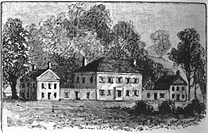 Harman Blennerhassett - Blennerhassett's estate on a large island in the Ohio River, a few miles below Parkersburg, West Virginia