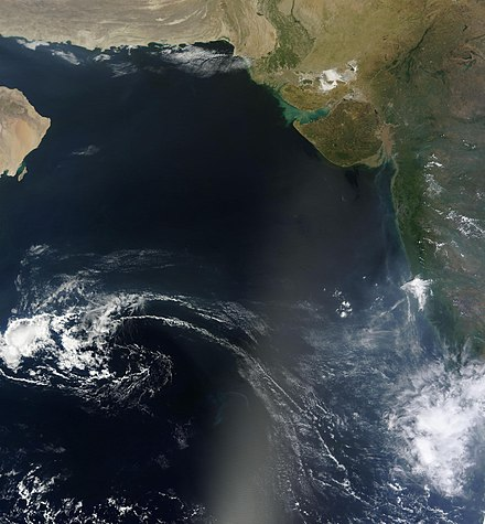 Arabian Sea from space Arabian Sea - October 2012.jpg