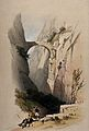 Arch crossing a ravine near El Sik. Coloured lithograph by L Wellcome V0049428.jpg