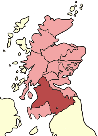 Archdiocese of Glasgow - Skene's map of Scottish bishoprics in the reign of David I (reigned 1124–1153).