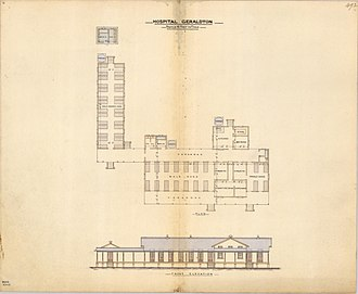 Innisfail, Queensland - Architectural drawing of the Geraldton Hospital, 1885