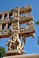 Architraves South Ends - Rear Side - East Gateway - Stupa 1 - Sanchi Hill 2013-02-21 4423.JPG