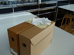 Cardboard box - Image: Archive boxes
