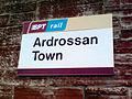Ardrossan Town railway station signage.jpg