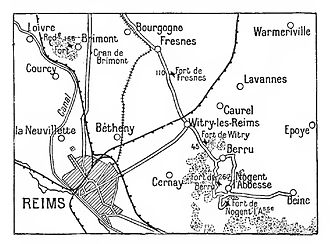 Battle of the Hills - Image: Area north east of Rheims 1915 1917