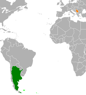 Diplomatic relations between the Argentine Republic and the Republic of Serbia