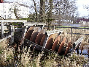 Archimedes' screw - An Archimedes screw in Huseby south of Växjö Sweden