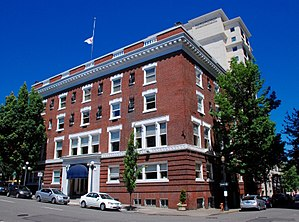 National Register of Historic Places listings in Southwest Portland, Oregon - Image: Arlington Club from southeast Portland, Oregon (2011)