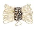 Armband, av orientaliska pärlor, rosenstenar och guld, 1840-tal - Hallwylska museet - 109866.tif