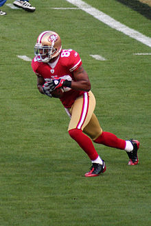 Arnaz Battle 49ers warmup 2009.jpg