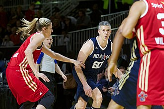 NBA All-Star Celebrity Game - Arne Duncan playing in the 2014 Celebrity Game.