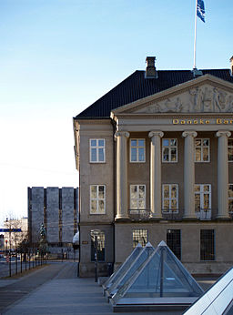 National Bank of Denmark, as seen from the Central Square in Copenhagen