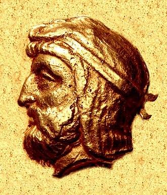 Artabazos II - Portrait of Artabazos II, from his gold coinage (fl. 389 – 328 BC).