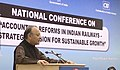 Arun Jaitley addressing the National Conference on Accounting Reforms in Indian Railways 'A Strategic Mission for Sustainable Growth', organised by the Ministry of Railway and Confederation of Indian Industry (CII).jpg