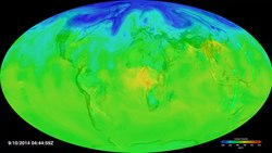 File:Assimilation of OCO-2 Carbon Dioxide into the GEOS Simulation.webm