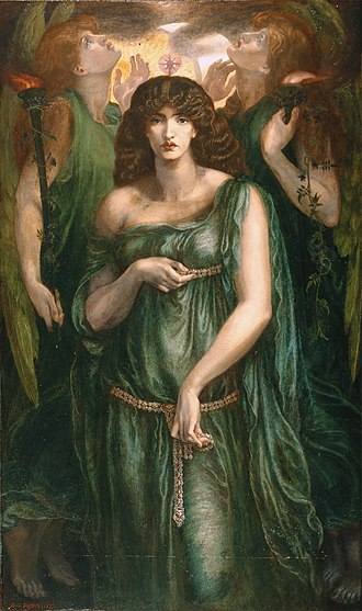 On the Syrian Goddess - A painting by Dante Gabriel Rossetti completed in 1877 depicting Atargatis, the goddess described in On the Syrian Goddess
