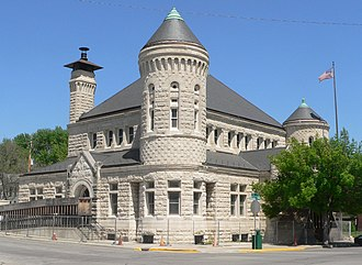 National Register of Historic Places listings in Atchison County, Kansas - Image: Atchison, Kansas post office from SW 1