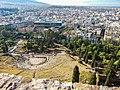 Athen, Dionysostheater, Akropolis-Museum, von der Akropolis 2015-09.jpg
