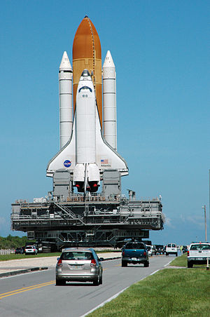 Hurricane Ernesto (2006) - Atlantis heads back to Launch Pad 39B to ride out Ernesto
