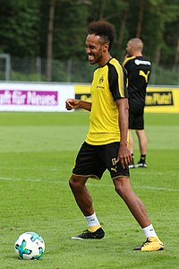 Pierre-Emerick Aubameyang - the cool, fun,  football player  with Gabonese, Spanish,  roots in 2018