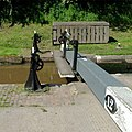 Audlem Lock No 12 top gate, Cheshire - geograph.org.uk - 1602355.jpg