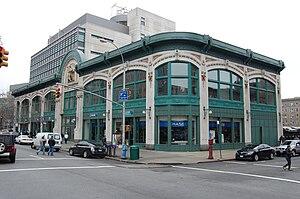 Davis Brody Bond - Audubon Business and Technology Center, showing the restored façade of the Audubon Ballroom.