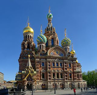 Church of the Savior on Blood cathedral in St. Petersburg, Russia