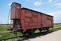 Auschwitz Birkenau railcar 2011.jpg