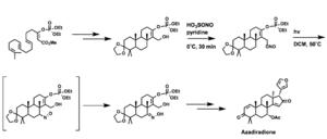 Barton reaction - A Barton reaction in the synthesis of azadiradione
