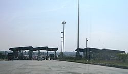 Toll Plaza and checkpost at Attibele on NH7
