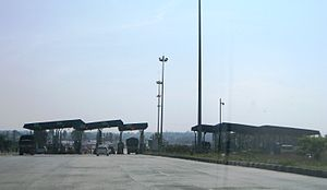 Attibele - Toll Plaza and checkpost at Attibele on NH7