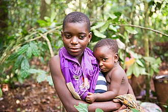 African Pygmies - Aka mother and child, Central African Republic (2014).